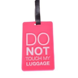 Luggage Tag Baggage Claim Suitcase ID Pink Travel